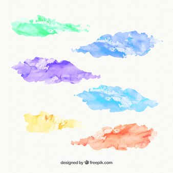 Watercolor stains