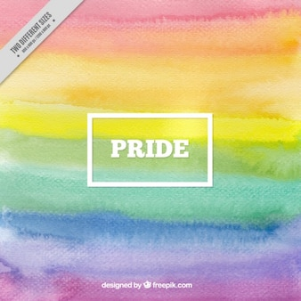Watercolor stripes background of pride day