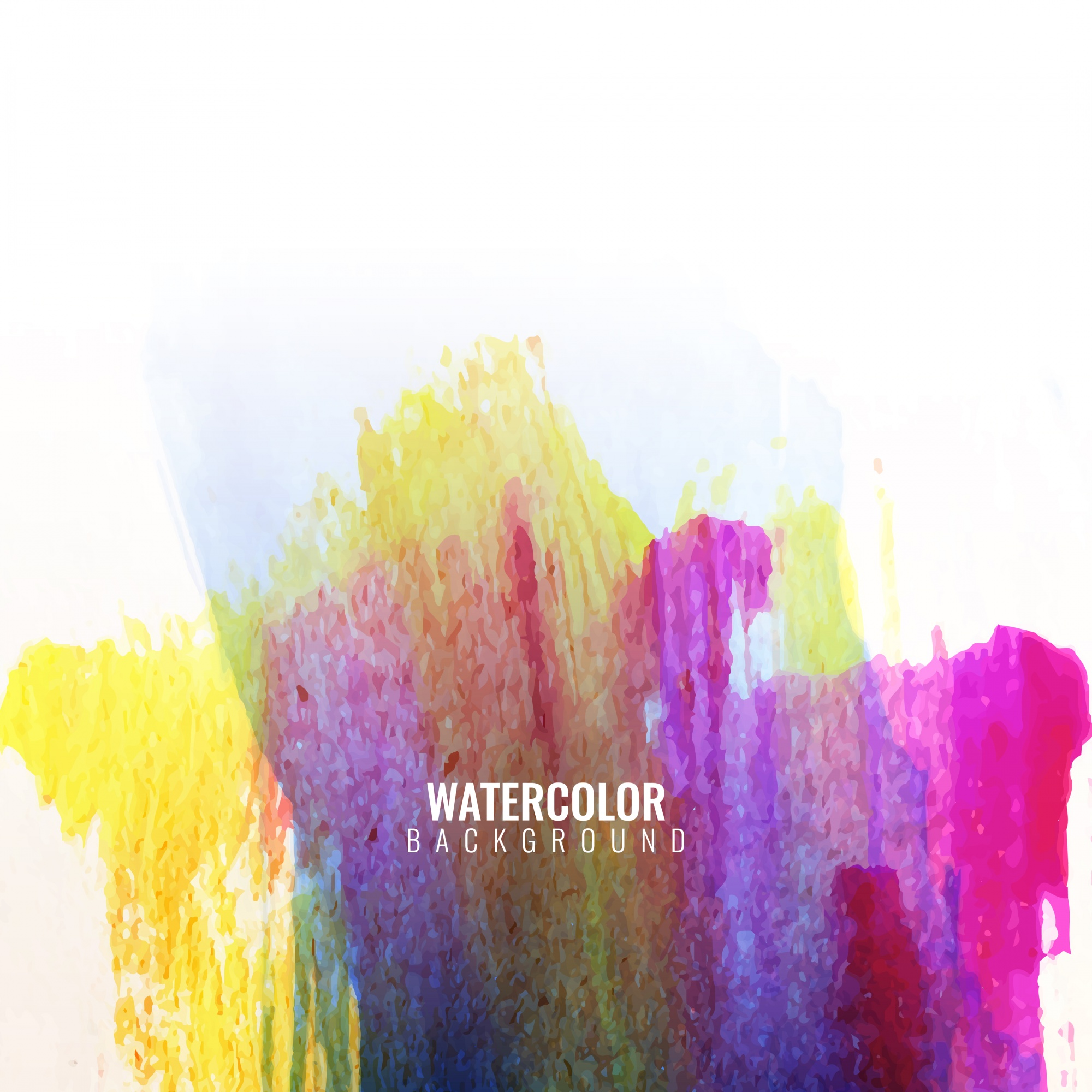 Watercolor strokes in full color