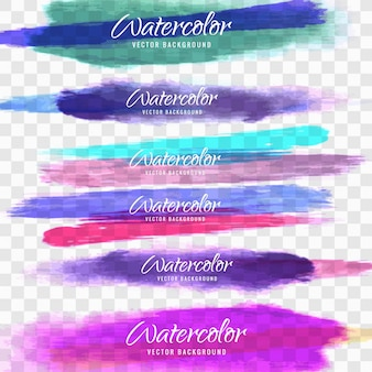 Watercolor strokes