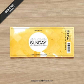 Watercolor ticket