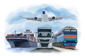 Watercolor transport design