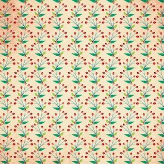 花の水彩ベクトルパターン