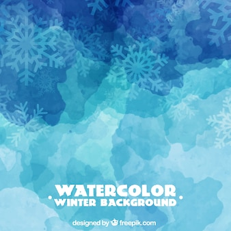 Watercolor winter background