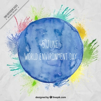 Watercolor world environment day background