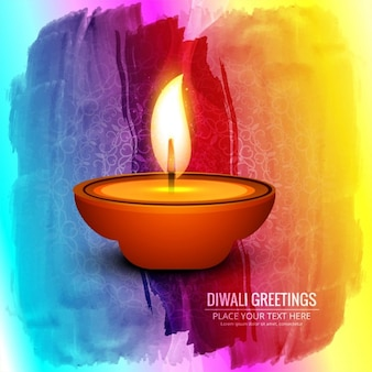 Watercolors background for diwali