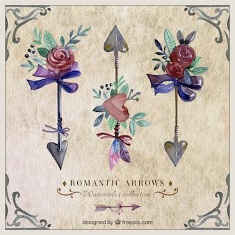 watercolour decoration arrows