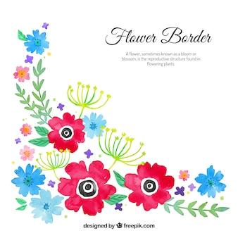 Watercolour floral corner