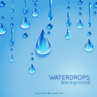 Waterdrops background