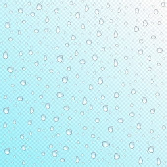 Waterdrops on transparent background