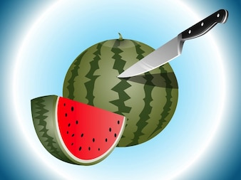Watermelon fruit fresh slices icon