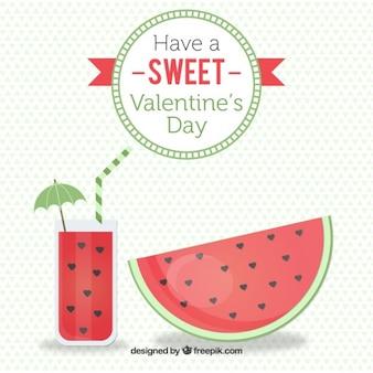 Watermelon valentine day