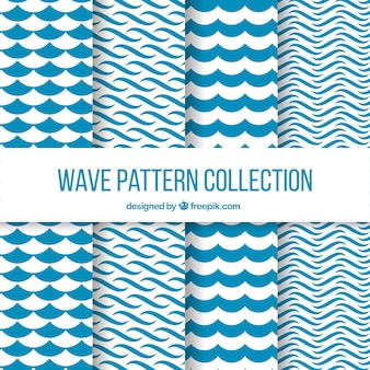 Wave patterns with abstract shapes