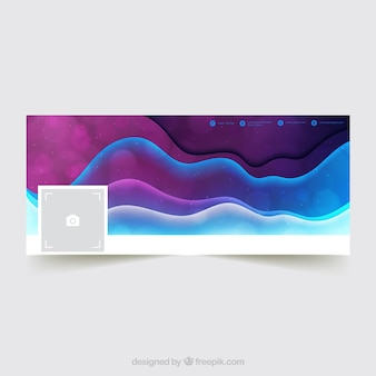 Waves abstract facebook cover