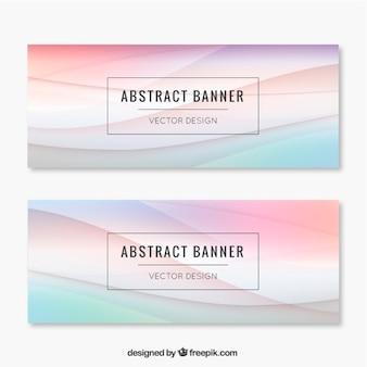 Волны абстрактные стильные баннеры