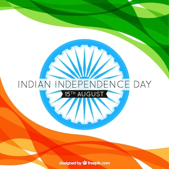 Waves background of abstract india independence day