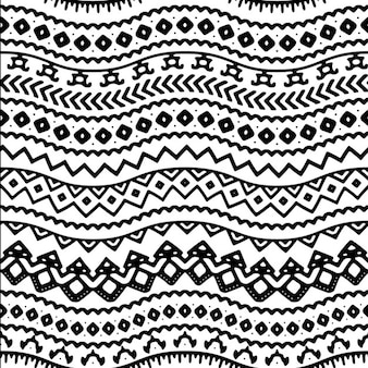 Waves pattern with ethnic forms