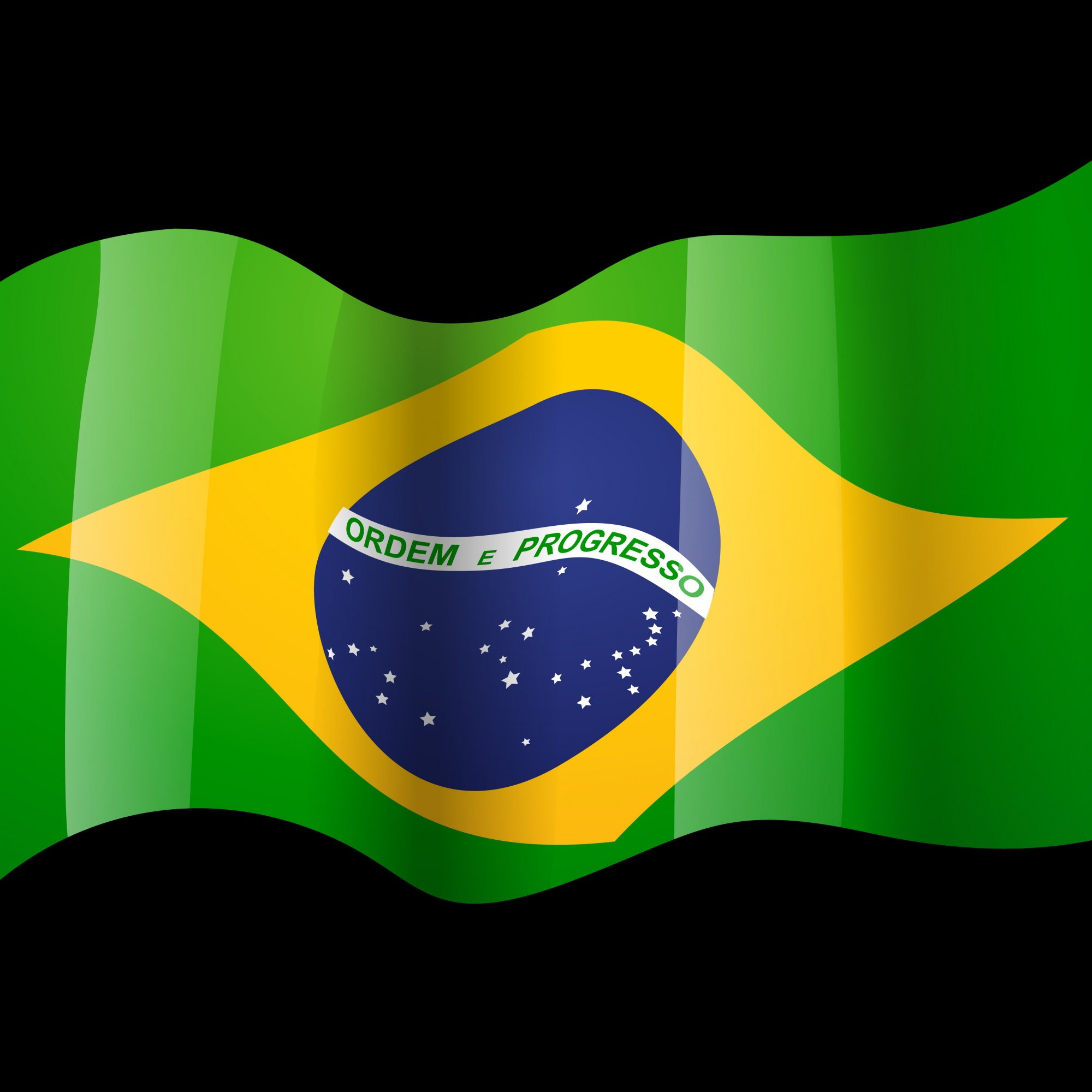 Waving brazilian flag