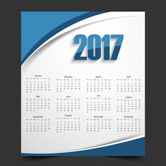 Wavy 2017 calendar