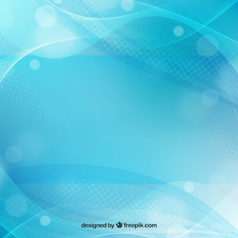 Wavy background with bokeh effect