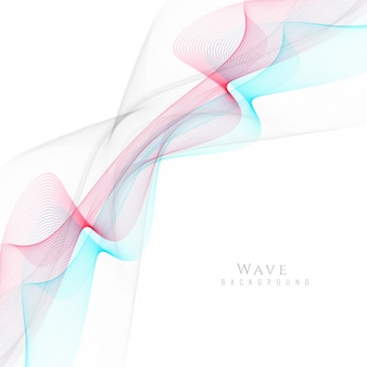 Wavy background with elegant red and blue shapes