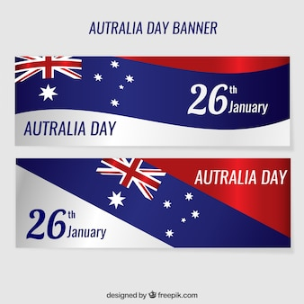 Wavy banners Australia Day pack