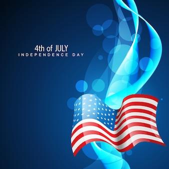 Wavy blue independence day illustration