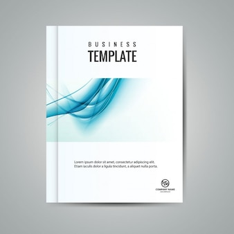 Wavy business booklet
