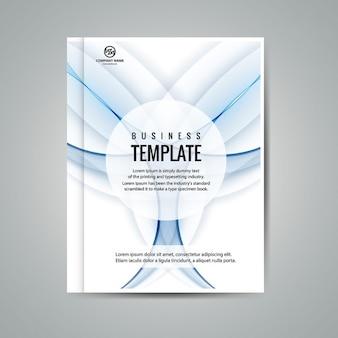 Wavy business brochure
