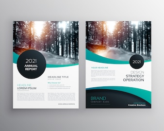 Wavy business flyer template