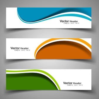 Wavy colorful headers