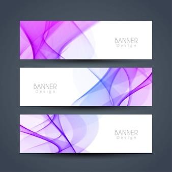 Wavy elegant banners