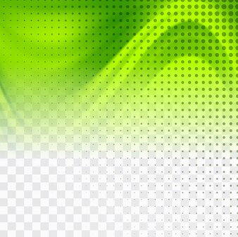 Wavy green background with halftone dots