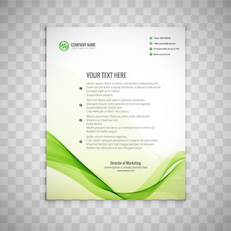 Wavy green business brochure