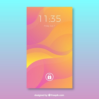 Wavy mobil wallpaper