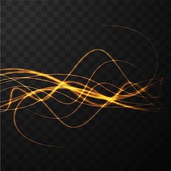 Wavy neon lines
