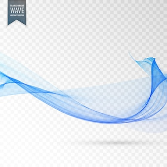 Wavy shape on transparent background