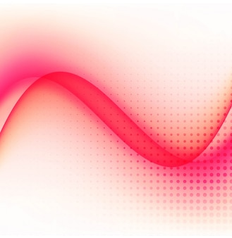 Wavy shapes with red tones