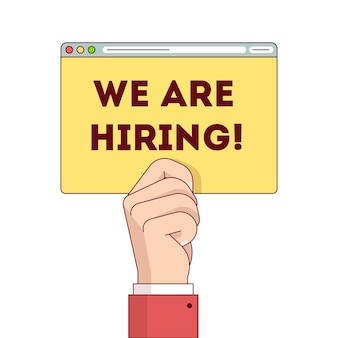 We are hiring internet web site page post