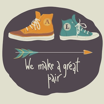 We make a great pair vilentine's card
