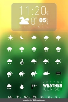 Weather icons collection