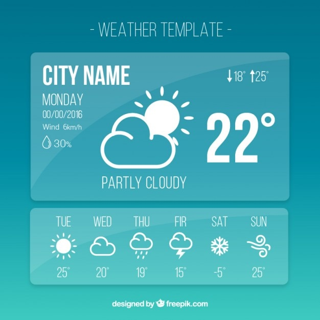 Weather Forecast Vectors, Photos and PSD files | Free Download