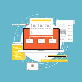 Web background design