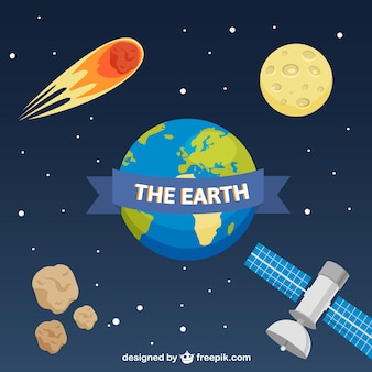Web background with planet Earth