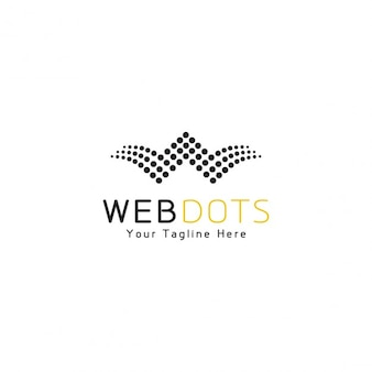 Web dots logo template