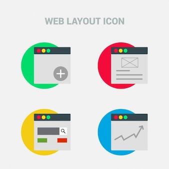 Web layout, 4 icons