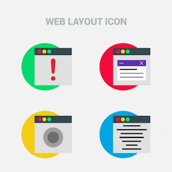 Web layout, four icons