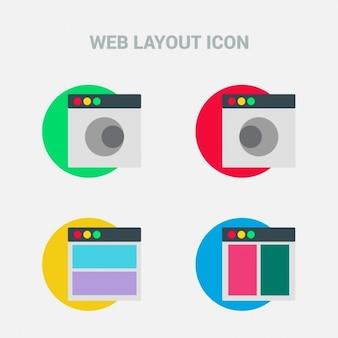 Web layout icons