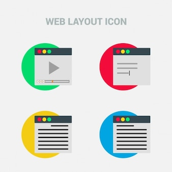 Web layout, icons