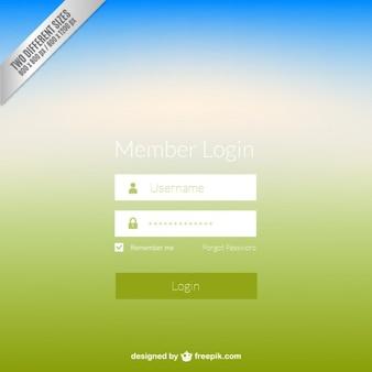 Web login panel